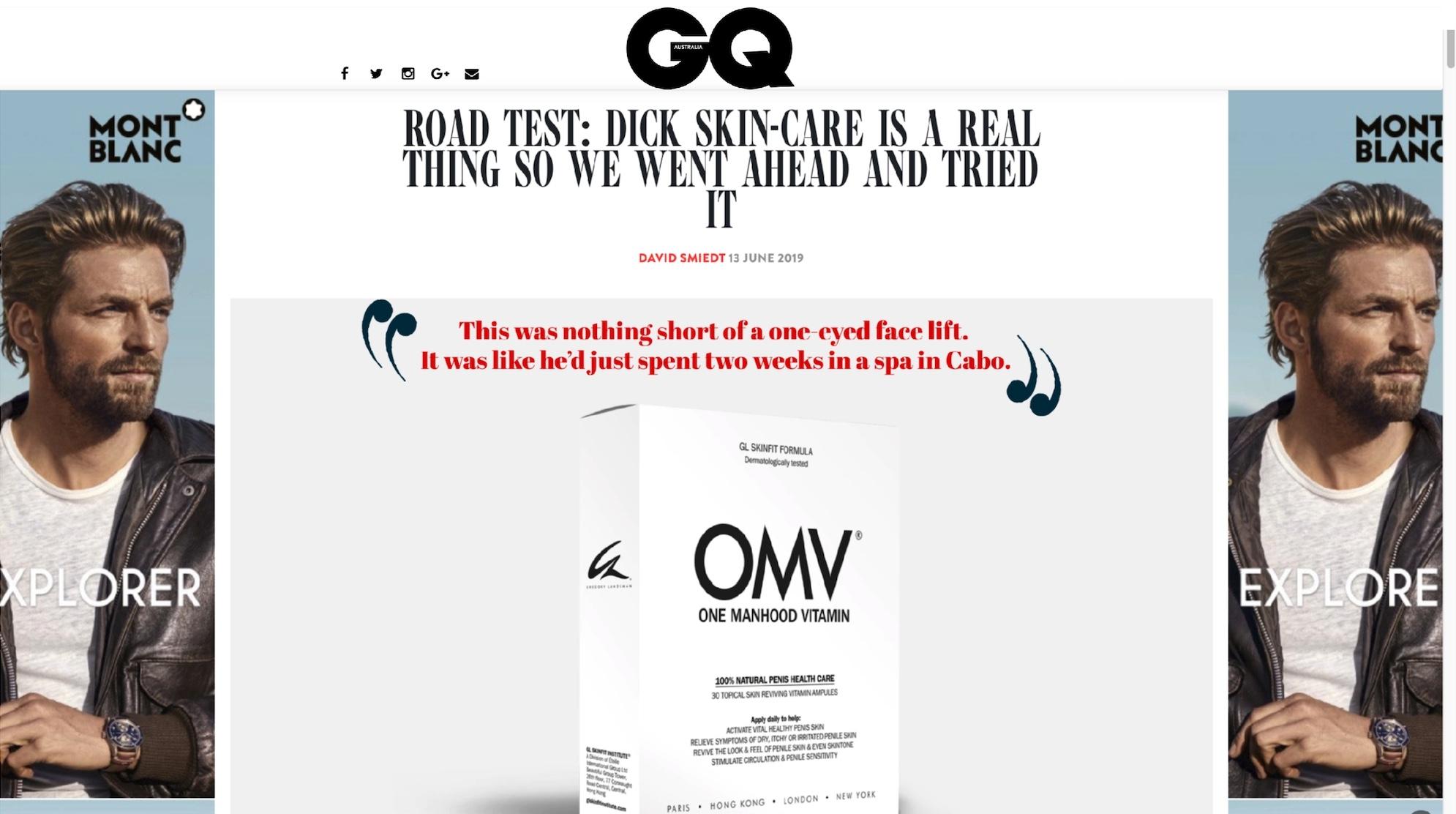 GQ Review of OMV One Manhood Vitamin